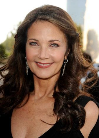 """Lynda Carter born 1951. This picture of her is at age 61. Best known as her role as """"Wonder Woman""""."""