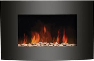 Home Fireplaces Electric Fireplaces Amantii Convex Front Electric Fireplace Wall Mount Wm 3522cf Wall Mounted Fireplace Mounted Fireplace Wall Mounted Electric Fires