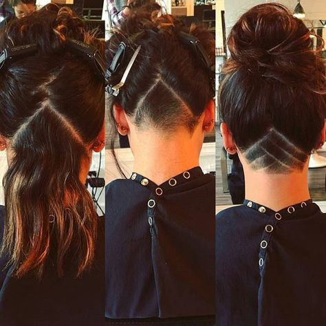 Such a lovely transformation! Gorgeous ❤ #undernation #undershave #undercut #design #pattern #hairart #haircut #transformation