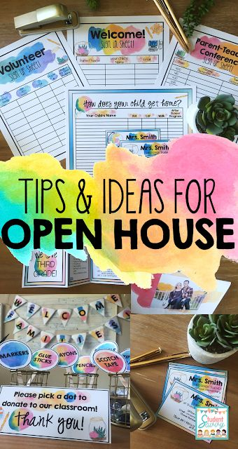 Ideas for Open House and Meet the Teacher Night!