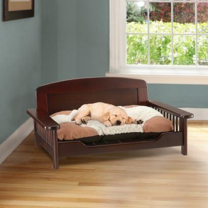 Elegant Dark Wood Pet Bed Wooden Dog Bed Dog Bed Furniture