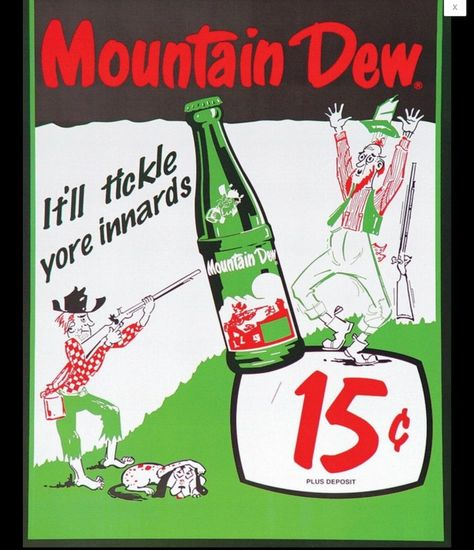 Funny Vintage Ads, Vintage Tin Signs, Retro Vintage, Vintage Soft, Retro Advertising, Retro Ads, Vintage Advertisements, 1950s Ads, Mountain Dew