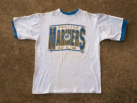 90s Mariners Shirt XL Vintage Seattle Mariners T Shirt XL