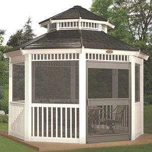 Suncast 12' x 12' Double Roof Gazebo Screen Kit            LOVE LOVE LOVE this.  It would be great to have this by pool. Love the screened in option for eating and protection from from mosquitoes.  Plus it is very pretty......