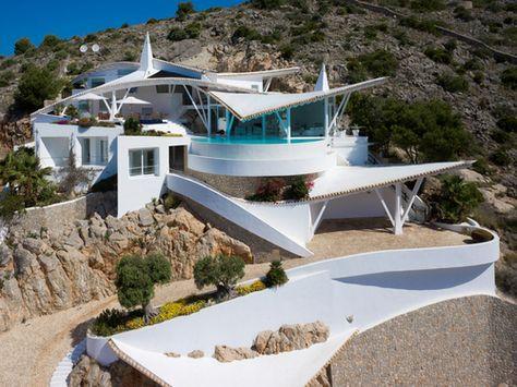 High-tech seagull design villa Rockstar in Port Andratx Upscale - möbel martin küchen angebote