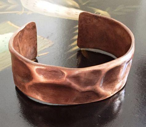Rustic bracelets cuff Statement jewelry Metalwork gift Wide metal bracelets Brass cuff statement Patina cuff bracelets Medieval jewelry
