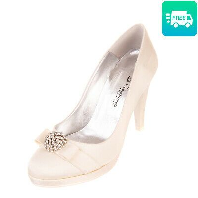 RRP 150 N.LOMBARDO Satin Court Shoes