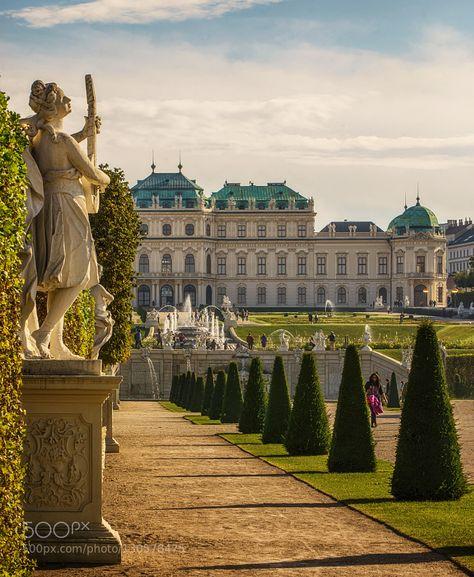 The Belvedere Palace in Vienna is built by Johann Lucas von Hildebrandt for Prin. - The Belvedere Palace in Vienna is built by Johann Lucas von Hildebrandt for Prince Eugene of Savoy. Beautiful Castles, Beautiful Places, Places To Travel, Places To See, Places Around The World, Around The Worlds, Wachau Valley, Austria Travel, Scottish Castles