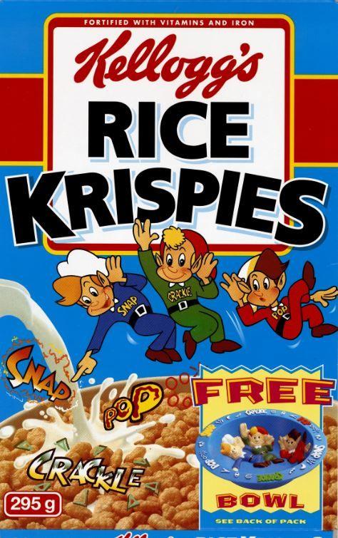 Kellogg S Rice Krispies 1995 Kelloggs Rice Krispies Rice