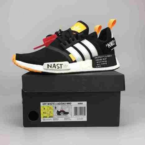 Off White X Adidas NMD R1 NMD Black White Orange Best