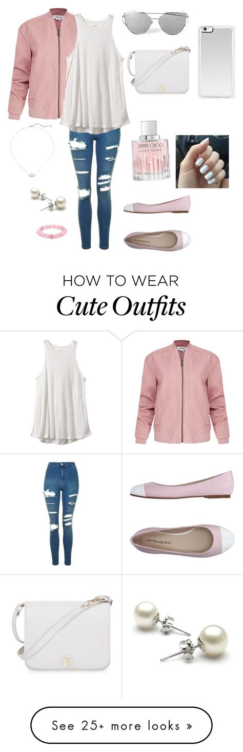 """Light pink cute outfit"" by cheleniak on Polyvore featuring Helmut Lang, Topshop, RVCA, ANNA BAIGUERA, Zero Gravity, Furla, Kendra Scott, Jimmy Choo and Palm Beach Jewelry"