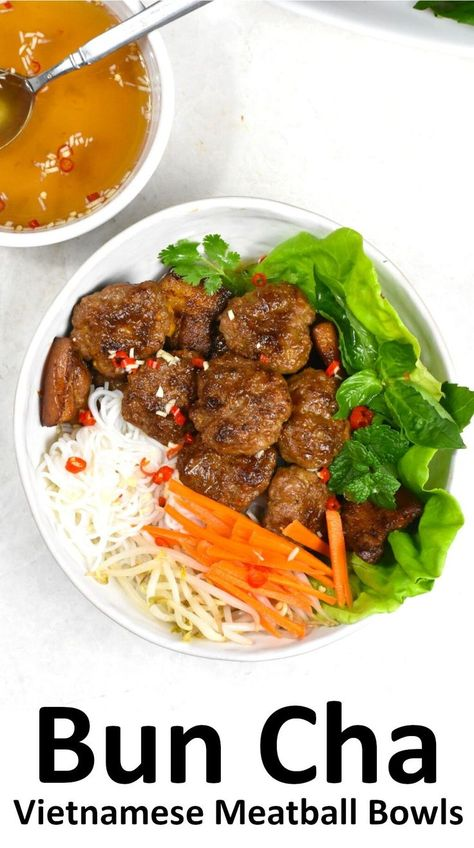 Bun Cha is a vibrant mix of juicy caramelized pork meatballs shaped like discs, delicate vermicelli, fresh garnishes… All united by one refreshing, flavorful light dipping sauce. Every single bite is pure harmony. If you love Vietnamese cuisine, you have to try this one!