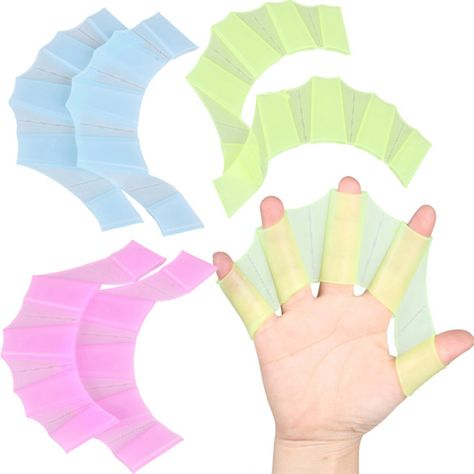 2pcs Pink Water Gear Silicone Swim Webbed Gloves for Kids