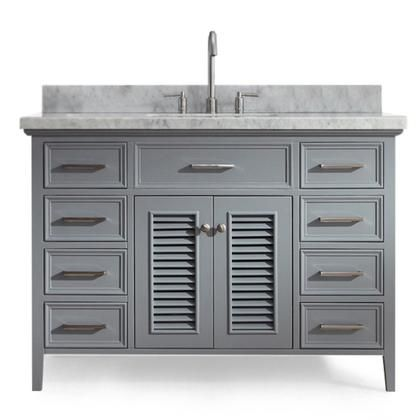 Kensington Collection D049s Vo Gry 49 Single Sink Vanity With 2
