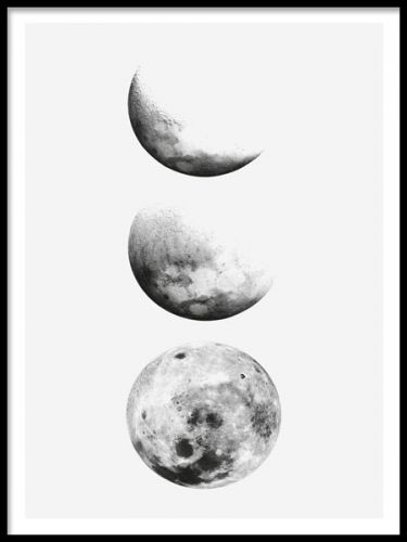 Poster mit mond illustrations paintings pinterest moon wallpaper and prints