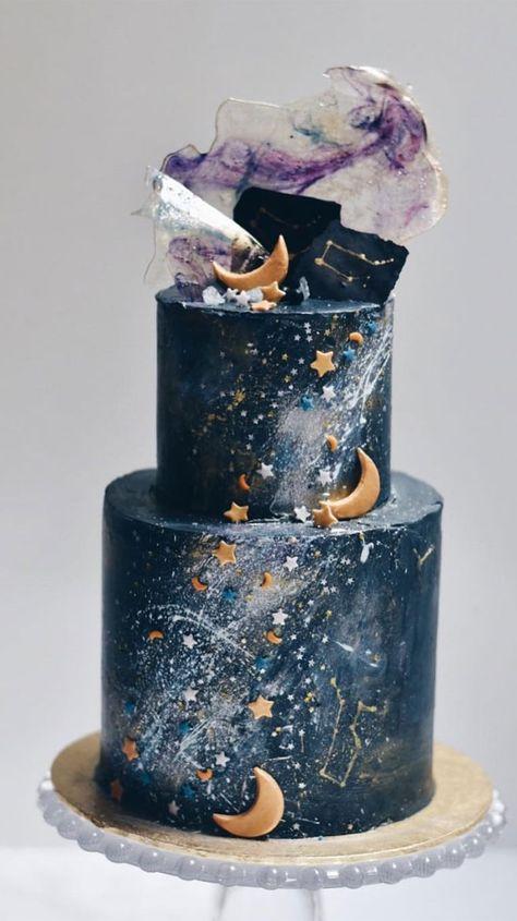 Beautiful Wedding Cake, wedding cake ideas,celestial wedding cake,moon and stars wedding cake , pretty wedding cake country chocolat mariage cake cake country cake recipes cake simple cake vintage