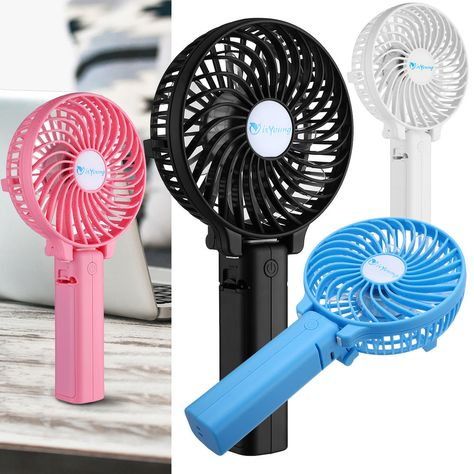 Mini Portable Outdoor Foldable Handheld Cooling Fan Rechargeable 18650 Battery