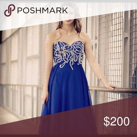 Royal Blue Formal Dress Formal, Prom, Ring Dance, etc.! This dress is super versatile and stylish! Gently used (only worn once!) Dresses Prom