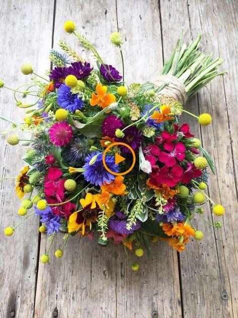 Mazzo Di Fiori Estivi.Bouquet Da Sposa Estivo Colorato Matrimonio Fiori Bouquet