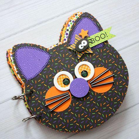 Doodlebug Design Inc Blog: Ghouls & Goodies: Black Cat Mini Album by Shellye McDaniel.