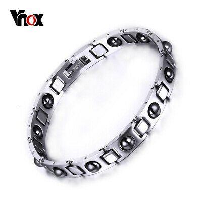 Vnox Wrap Bracelet Men Jewelry Hematite Magnet Stainless Steel Chain Adjustable In 2020 Bracelets For Men Wrap Bracelet Mens Jewelry
