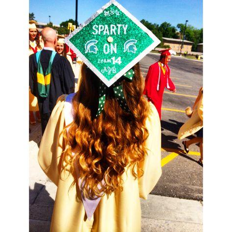 Michigan State graduation cap
