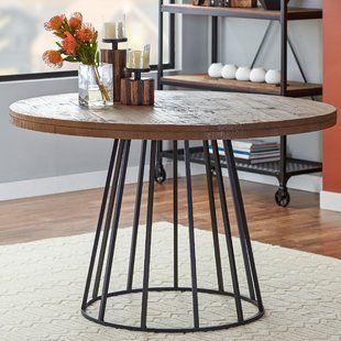 Brass Base Dining Table Wayfair Dining Table Dining Table In Kitchen Round Kitchen Table