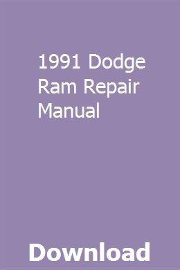 1991 Dodge Ram Repair Manual Repair Manuals Chilton Repair Manual Owners Manuals