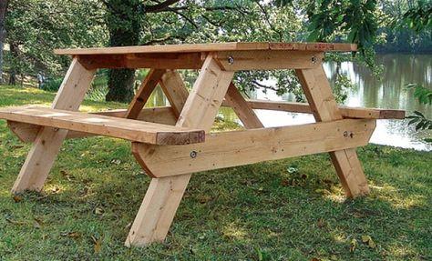 Fabriquer Une Table De Pique Nique Table De Jardin Bois Table