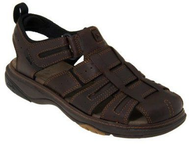 b57e15d74f5 Clarks Charles Mens Sandals Brown Oily 10 Clarks.  89.99