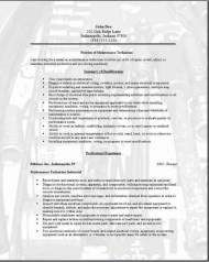 Maintenance Technician Resume, Occupational:examples ...