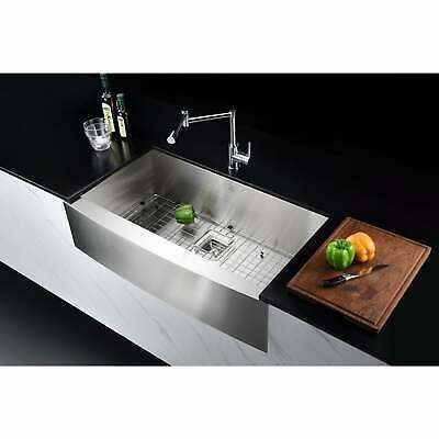 Ad Ebay Url Elysian 32 Inch Farmhouse Single Basin Stainless Steel Silver In 2020 Stainless Steel Farmhouse Sink Farmhouse Apron Sink Stainless Steel Kitchen Sink
