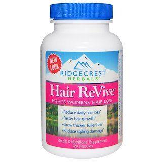 Ridgecrest Herbals Hair Revive 120 Capsules Hair Loss Women Herbal Hair Herbalism