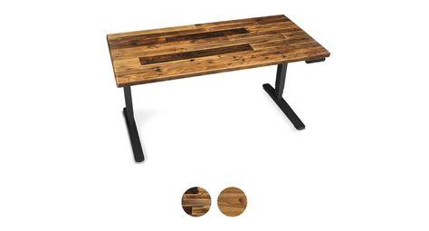 Uplift Reclaimed Wood Standing Desk V2 V2 Commercial Reclaimed Wood Standing Desk Wooden Desk Chairs Reclaimed Wood