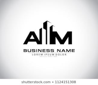 A M Initial Logo Concept With Building Template Vector Initials