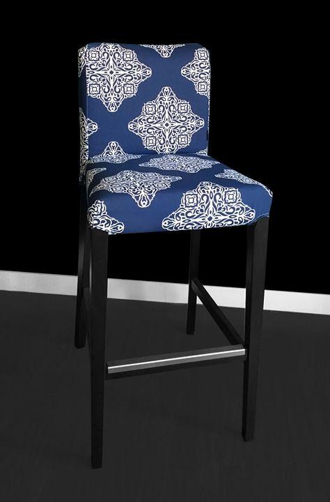 IKEA HENRIKSDAL Bar Stool Chair Cover Esperanza Medallion
