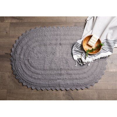 August Grove Lisk Crochet Bath Rug Color Gray Size 17 W X 24 L In 2020 Rugs Bath Rugs Colorful Rugs