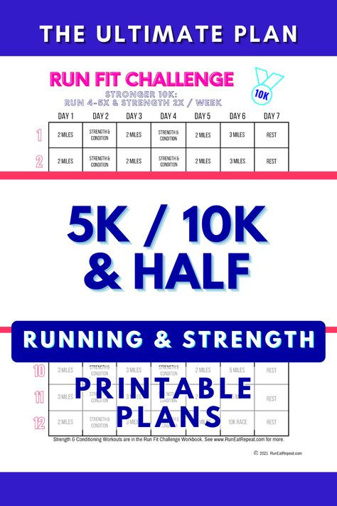 The Ultimate 5K, 10K or Half Marathon Training Program! Running and Strength Training, Coaching Q&A and Community of Runners like you.