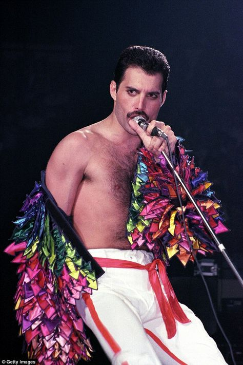 Mercury performs at Madison Square Garden on July 27, 1983 in New York City...