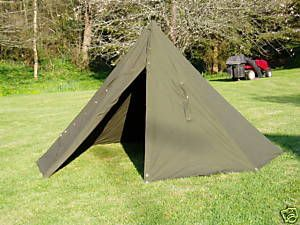 Two Man Polish Army Canvas Tent also