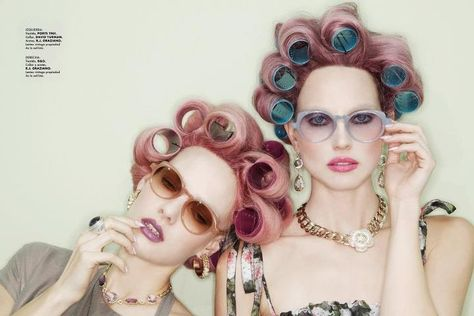 For Meme Emily And Josi Pink Hair Hair Rollers Beauty