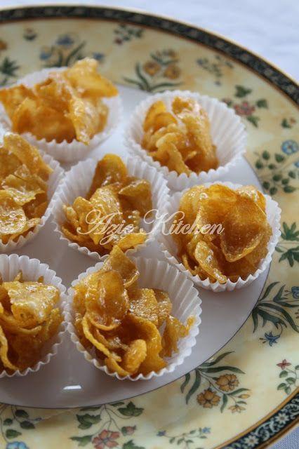 Biskut Cornflakes Madu Yang Sedap Resep Biskuit Kue Sehat Makanan