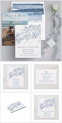 Portland Maine Wedding Invitation Set