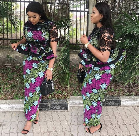 Latest Ankara Skirt And Blouse Styles For Wedding 2019 - Pretty 4