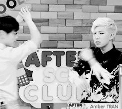 Eric Nam and Rap Monster xD Just casually twerking and body rolling. That body roll tho. That twerk tho too.
