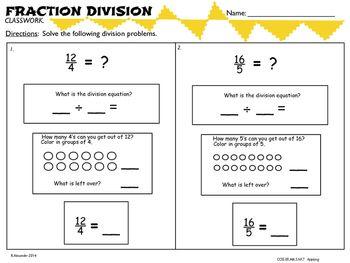 17 Best Dividing Fractions 6 Ns 1 Ideas Dividing Fractions Fractions Fractions Division