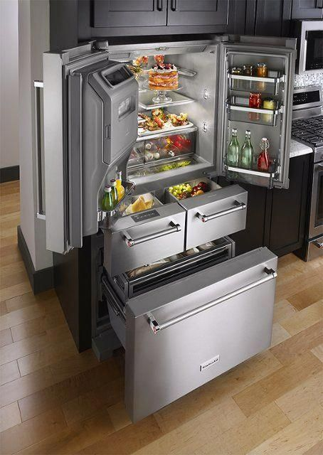 Kitchenaid 25 8 Cu Ft 5 Door French Door Refrigerator Stainless Steel Alt View Zoom 3 K Kitchen Furnishings Simple Kitchen Cabinets Kitchen Renovation