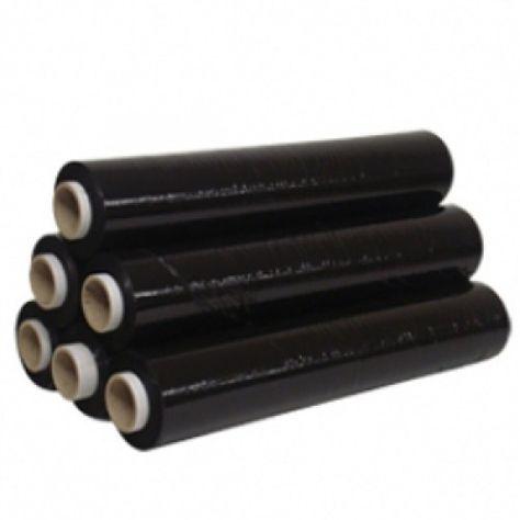 12 Roll Black Stretch Pallet Wrap Shrink Wrap Packing Film 500mm x 250m 25MU