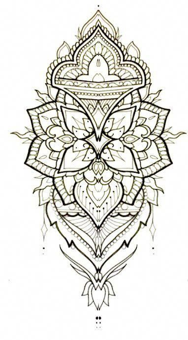 mandala tattoo sketch