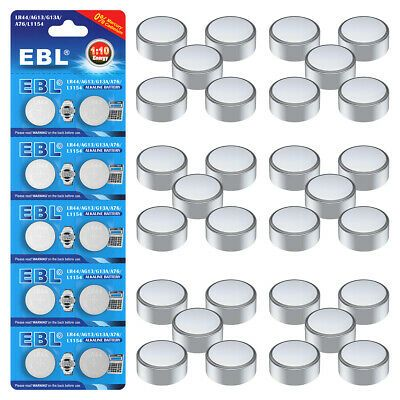 Ad Ebay Link 200pcs New Lr44 Ag13 L1154 1 5v Alkaline Button Cell Coin Pack Battery Batteries Button Cell Ebay Batteries